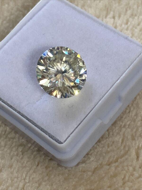 3.98ct 10.60mm White ROUND  REAL MOISSANITE DIAMOND US seller