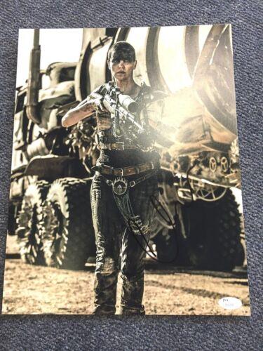 Mad Max Fury Road Charlize Theron Autographed Signed 11x14 Photo JSA COA #1
