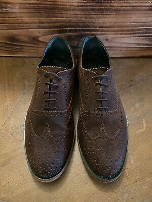 Andrea Ventura Firenze Oxford Wingtip Brogue Mens Brown Leather Shoes US 10.5