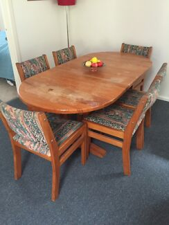 Dining Room table and 6 chairs -pine. FREE Grays Point Sutherland Area Preview
