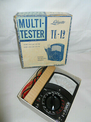 Vintage Lafayette Multi-tester Te-12 In Original Box W Instructions Tested A