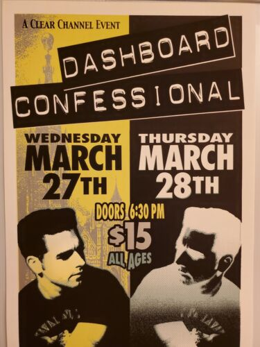 Dashboard Confessional Poster - Signed By Mark Arminski