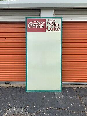 Huge Vintage Things Go Better With Coke Board Menu Board 94x46 A Drive In Movie