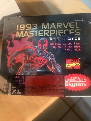 1993 Marvel Masterpieces Trading Card Box Sealed
