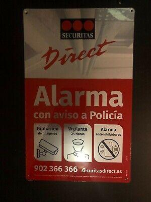 Placa alarma disuasoria mediana Securitas Direct 24x15