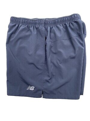 "New Balance Men's Core 5"" Running Shorts MS81954 Gray Size Large"