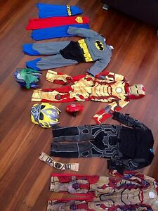 Costumes various (sizes 4-6 years) Batman Spidean Superman Iron Melville Melville Area Preview