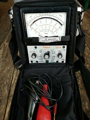 Simpson Ts-113 Tester Multimeter 600v With Case