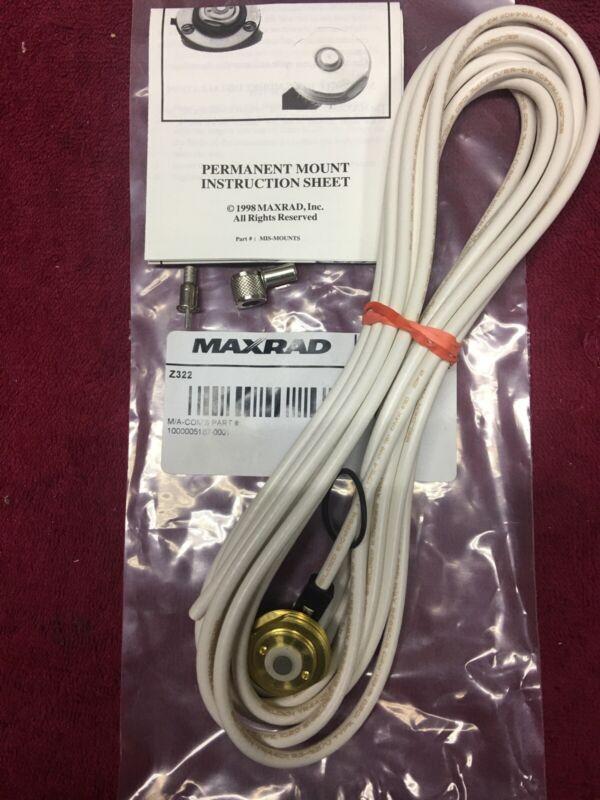 "MAXRAD NMO ANTENNA MOUNT 3/4"" RG58U  17' 1000 MHz BELDEN CABLE W MINI UHF CONN."
