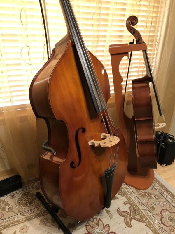 3/4 Upright Double Bass With German Bow