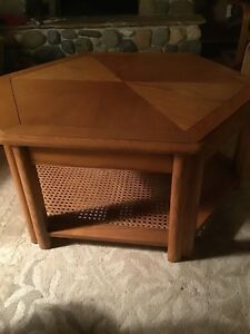 Oak Hexagon Coffee Table