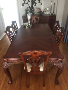 Dining room table OK so I put chicken legs inTable