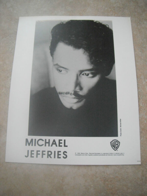 Michael Jeffries Tower of Power R&B B&W 8x10 Promo Photo Picture