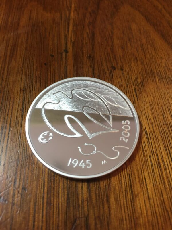 2005 Finland 10 Euro silver coin Proof 60 years Peace and Freedom In Europe.