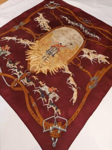 Foulard carré hermès vintage en soie