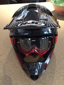 Youth large HJC dirt bike MX helmet.