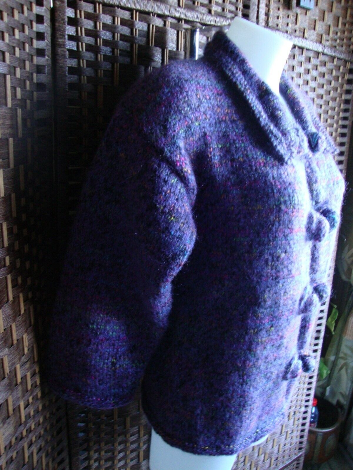 Gilet tricoté main  t 38/40