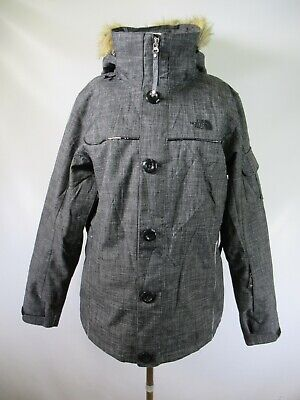 E7516 THE NORTH FACE Bettie Fur Hooded Snowboard Ski Jacket Size L