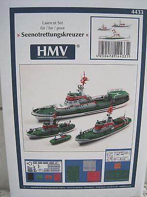 Lasercutsatz für Seenotrettungskreuzer Kartonbausatz *NEU* HMV- Bastelbogen