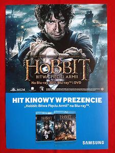 Martin Freeman - The Hobbit The Battle of the Five Armies - Polish promo FLYER - <span itemprop=availableAtOrFrom>Gdynia, Polska</span> - Martin Freeman - The Hobbit The Battle of the Five Armies - Polish promo FLYER - Gdynia, Polska