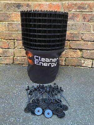 Premium Black PVC coated Solar Bird / Pigeon Prevention Mesh Netting