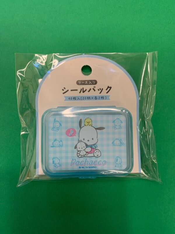 Sanrio Japan: Pochacco Stickers With Plastic Blue Case (A4 + AAA)