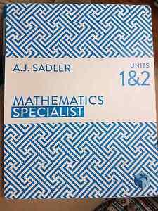 Year 11 Atar Maths Specialist Heathridge Joondalup Area Preview