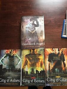 Immortal instruments books 1-3 and clock work angel