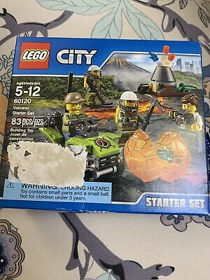 LEGO City Volcano Starter Set 60120 New, Sealed, Badly DAMAGED BOX,