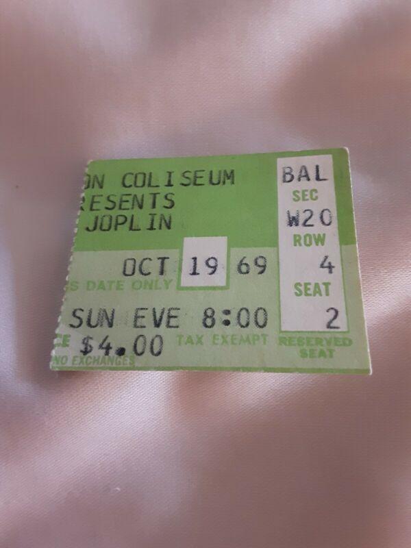 Janis Joplin Ticket Stub 1969 RARE