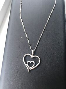 Heart Necklace Sterling Silver