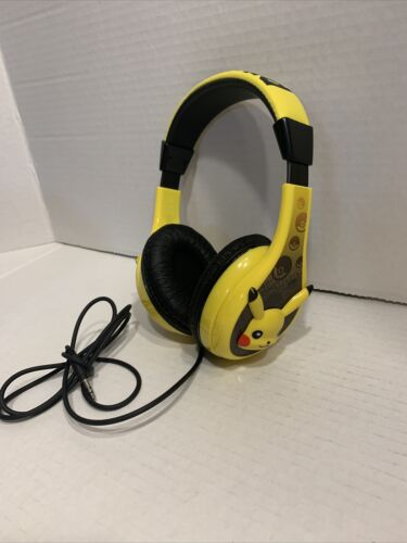 Pokemon PK140PIEXV8 Pikachu Youth Kid Safe Headphones Yellow Tested - $14.99