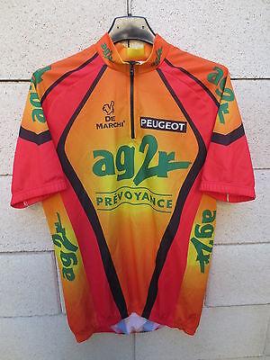 VINTAGE Maillot cycliste AG2R PEUGEOT Tour de FRANCE 2000 De Marchi 4...