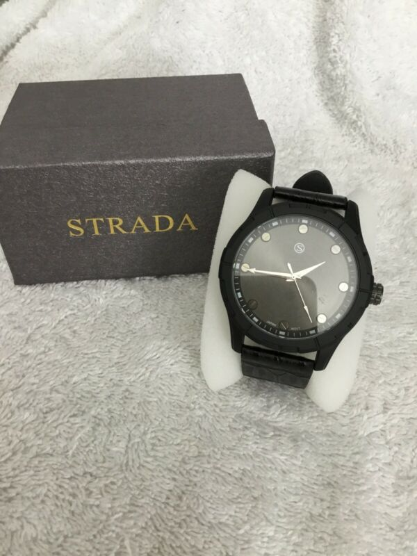 Strada+Japanese+Movement+Water+Resistance+Black%2FBronze+Watch+New+7.25%2F9%E2%80%9D