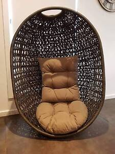 2 X Hanging Egg Shell Chairs Melton Melton Area Preview