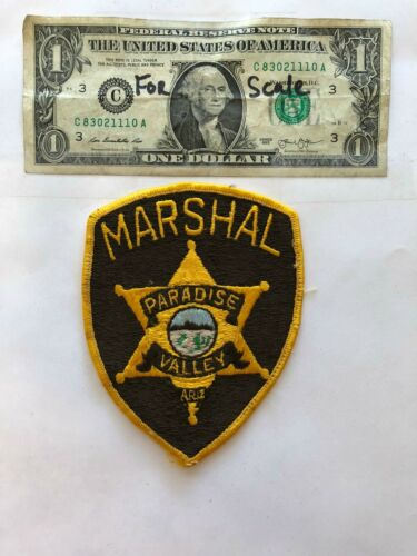 Vintage Paradise Valley Arizona Police Marshal Patch pre-sewn great condition