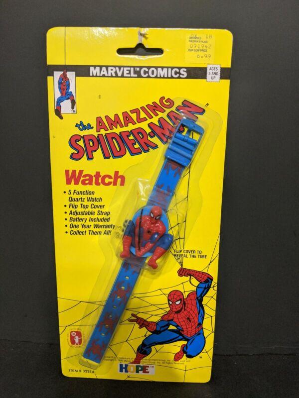 VINTAGE SPIDER MAN 1990 MARVEL COMICS HOPE INDUSTRIES PLASTIC WATCH NEW