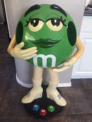 Green M&M Character Store Display- 3ft Tall