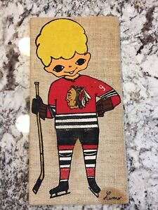Chicago Blackhawks Homemade Art Craft