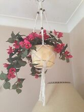 Macrame hanger white with wood beads Cleveland Redland Area Preview