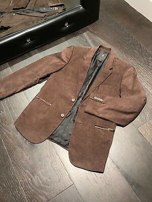 Guess Jeans Men's Corduroy Blazer Brown Color Sz M Lined (Lined Two Button Jeans)