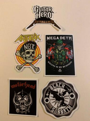 Lot (5) Rock Heavy Metal STICKERS Fast! FREE! Megadeth METALLICA Sabbath Anthrax