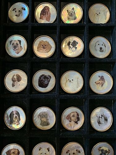 Mixed Breed Dog Buttons LOT Mother of Pearl MOP CRAFTING from Renaissance Ribbon