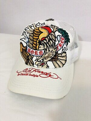 Don Ed Hardy Embroidered Born Free Baseball Hat Cap Snapback Cotton One Size A2