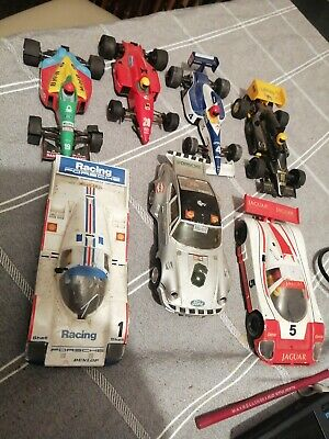 scalextric cars , joblot of MOT Failures 7 untested and various car parts