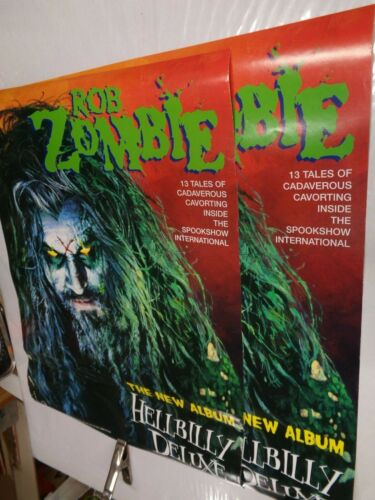 rob zombie lot of 2 (TWO) posters 1998 record store promos Vintage  horror