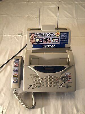 Brother Intellifax-1270e Plain Paper Fax Phone Copier