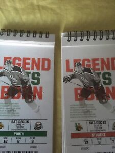 Mooseheads lower bowl tickets Saturday December 15th