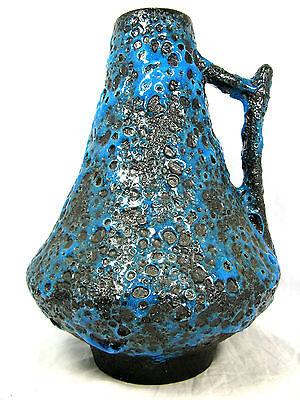 """Beautiful glazed  70´s design  JOPEKO Keramik  """" Fat Lava """" vase  44 / 25"""