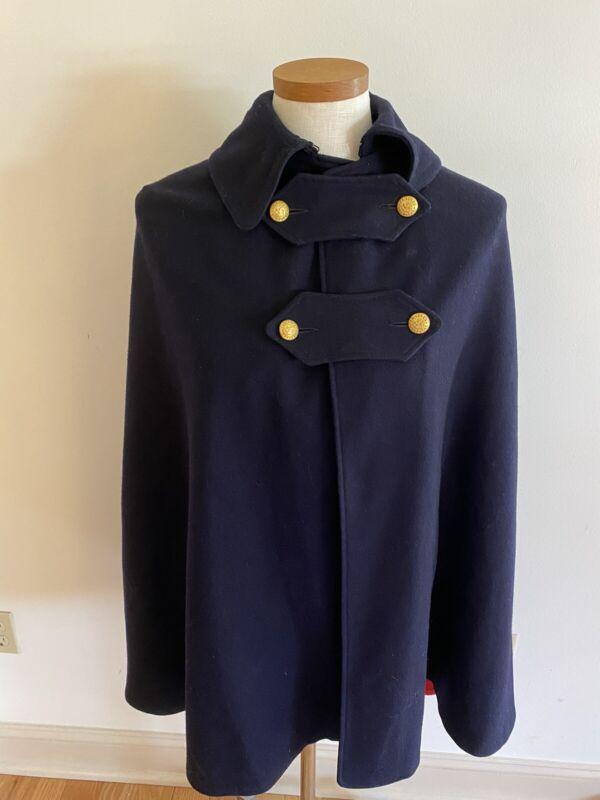 Vintage Marvin Neitzel wool nurses cape 1940's navy red St Lukes Hosp EUC RARE!